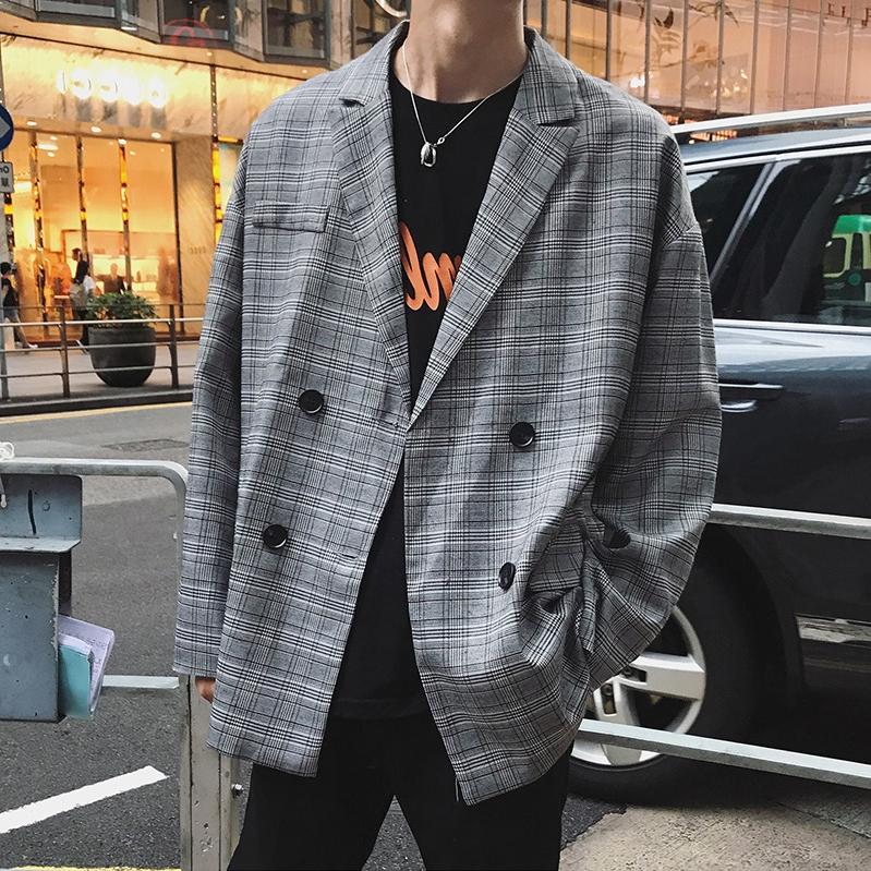 Áo khoác mỏng kẻ sọc phong cách hàn quốc cho nam giới