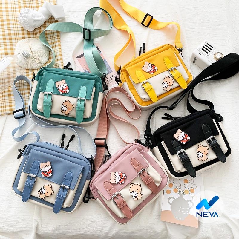 (HOT) Túi vải Mini đeo chéo cho nữ phong cách hàn quốc NEVA875