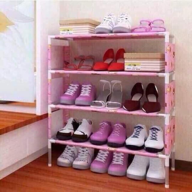 Kệ để giày dép 4 tầng ( chọn màu ngẫu nhiên )