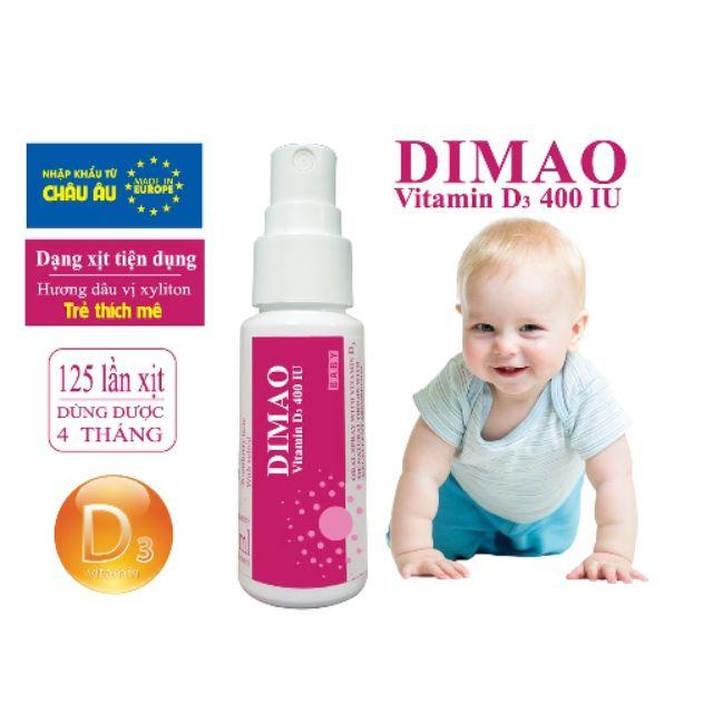 [Chính Hãng] Vitamin  DIMAO - Vitamin D3 400IU - Dạng Xịt Tiện