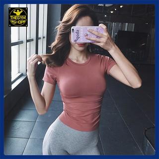 Áo tập gym yoga nữ AMIN AM020 vải cao cấp thông thoáng co dãn 4 chiều thấm hút mồ hôi