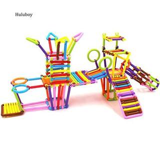 HLBY♣135Pcs Children Assembled Educational Toys Plastic Building Blocks Smart Sticks