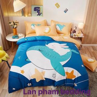 Bộ 5 Món Chăn Ga Gối Cotton Demi - Dành Cho Bé Cao Cấp Êm Ái Mềm Mại Lan Phạm Bedding - Cá Heo thumbnail