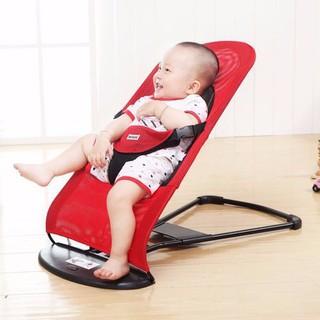 Ghế nhún tạo rung lưới thoáng khí gối đầu - ghế rung nhún đa năng cho bé nằm chơi ngủ uống sữa thumbnail