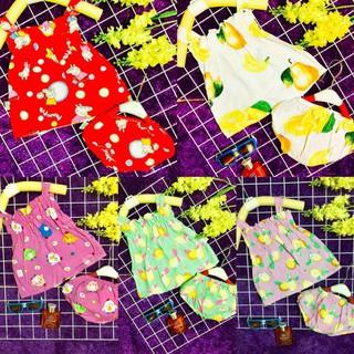 Set 5 váy lanh thái kèm chip cho bé