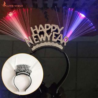 Durable Practical New Year Head Band LED Head Band Plastic Party Glowing Head Band Headwear Toy