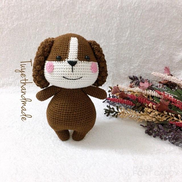 Cún móc handmade cao cấp len Thổ Nhĩ Kỳ - Thú bông len handmade