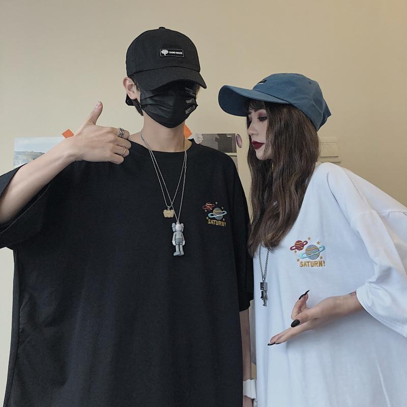Áo thun tay ngắn phong cách Hàn Quốc trẻ trung năng động dành cho cặp đôi