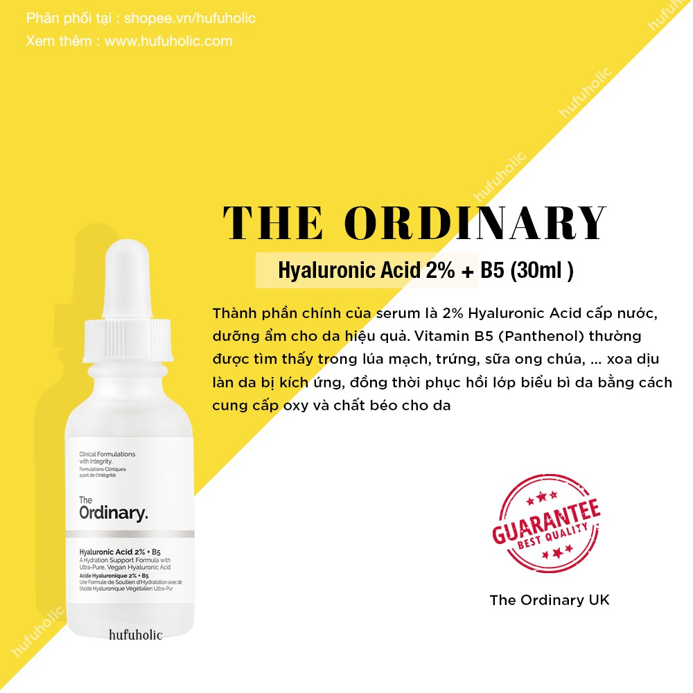 THE ORDINARY - Tinh chất Hyaluronic Acid 2% + B5 (Bill Anh UK)
