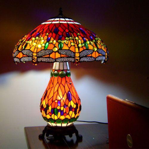 [FREESHIP ] Đèn bàn Chuồn Chuồn - Đồ decor cao cấp co gia đình ( tặng kèm bóng đèn )
