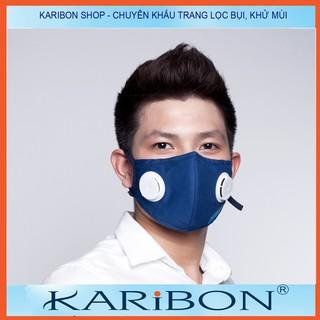 [Mã FAKHOE15 giảm 15K đơn 99K] Khẩu trang Karribon Maxair 8 lớp có than hoạt tính và van thở 1 chiều người lớn