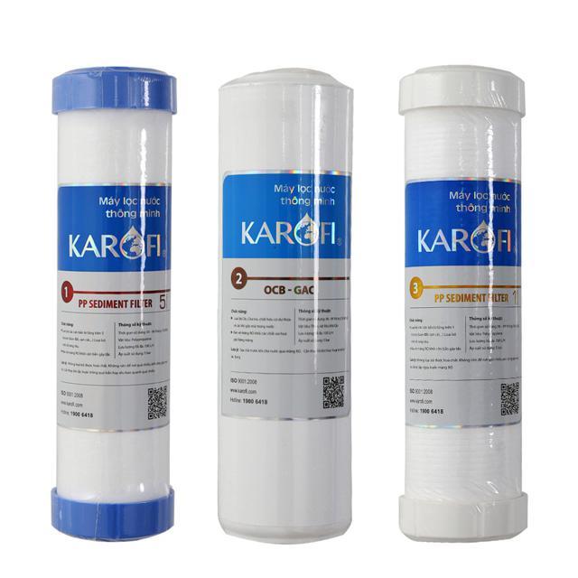 Bộ lõi lọc nước Karofi chính hãng