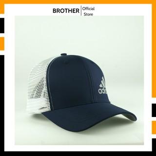 Mũ lưỡi trai, nón kết nam phối lưới thời trang cao cấp màu xanh đen