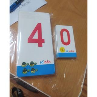 Bộ thẻ học chữ cái và số cho bé mầm non