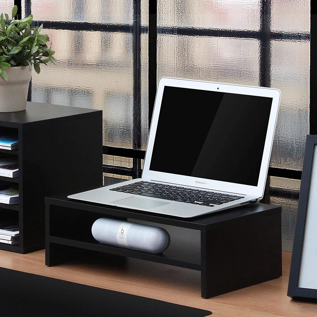 Kệ gỗ để màn hình máy tính FAS.FIT nâng màn hình lên đến 14cm / Giảm đau cổ / giúp bàn làm việc gọn gàng