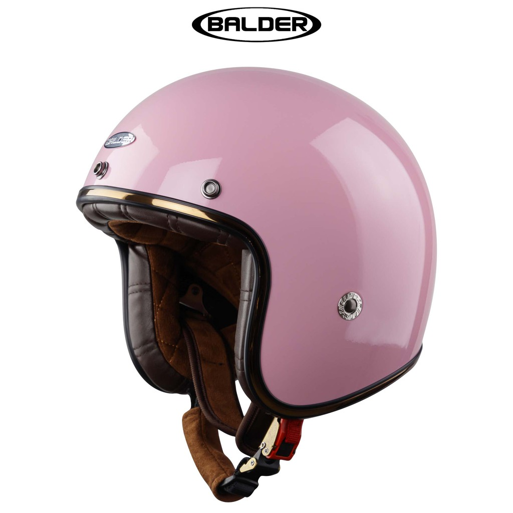 Mũ bảo hiểm 3/4 BALDER hồng phấn bóng