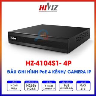 Đầu ghi hình Hiviz - HZ-4104S1-4P PoE 4 kênh camera IP - Chính hãng - Bảo hành 24 tháng thumbnail