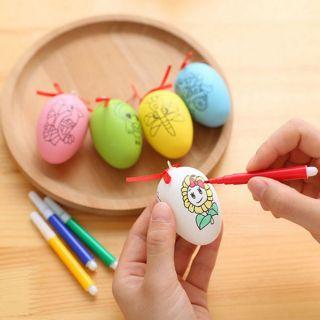 Trứng tô màu cho bé kèm bút dạ