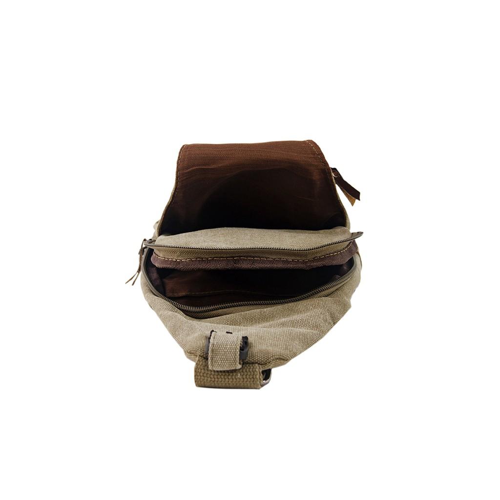 Túi Đeo Ngực Nam Đầu Nhọn Nâu Nhạt XinhStore