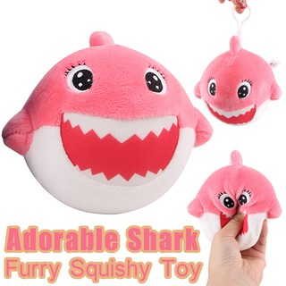 Furry Squishies Adorable Shark Foamed Stuffed Slow Rising Squeeze Keychain Toy