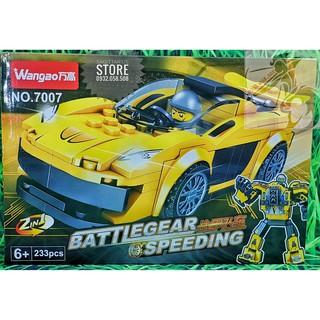 Lego Wangao 7007 Lắp Ráp Robot Xe Hơi – RoboCar ( Vàng – 233 Mảnh )