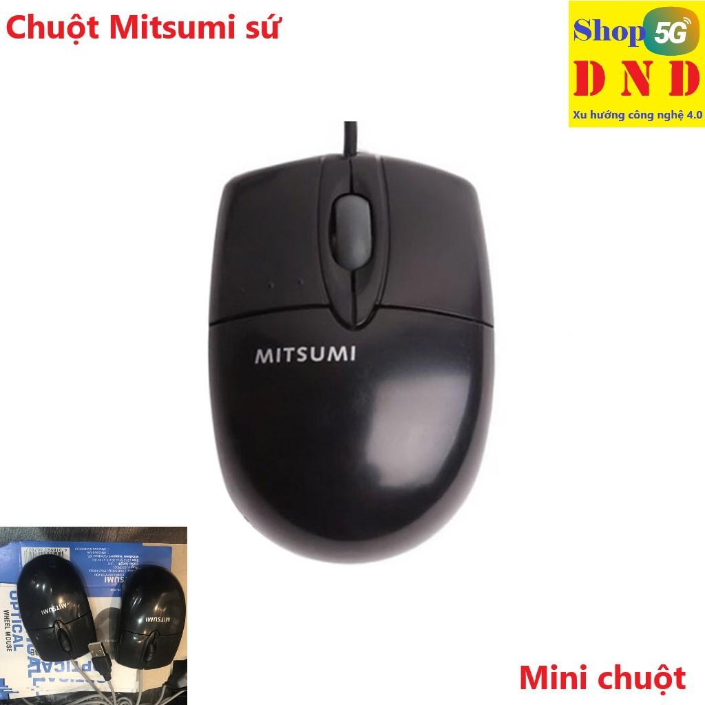 Chuột dây Mitsumi sứ nhỏ (dây trắng) thiết kế nhỏ nhắn dễ mang theo, chuột  nhạy, dễ bấm giá cạnh tranh