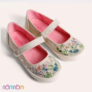 Giày Búp bê bé gái NomNom NG1601 in hoa