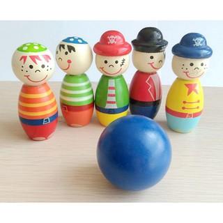 [HOT] Đồ chơi Bowling bằng gỗ an toàn cho bé – Toca Toys