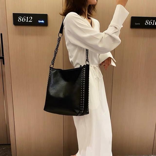 Túi xách tote da nữ đeo chéo Đinh Tán DC87