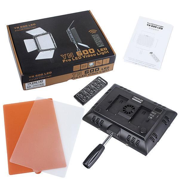 Combo Đèn Led Yongnuo YN600L II + 1 Sạc FB dùng cho pin sony F970 + 1 Pin F970 copy