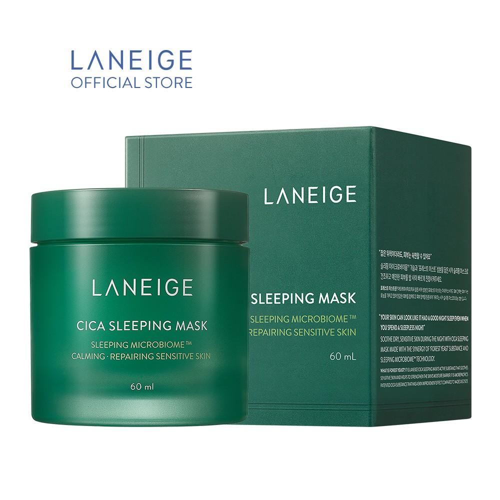 [Mã FMCGMALL giảm 8% đơn 250K] Mặt nạ ngủ phục hồi và nuôi dưỡng da LANEIGE Cica Sleeping Mask EX