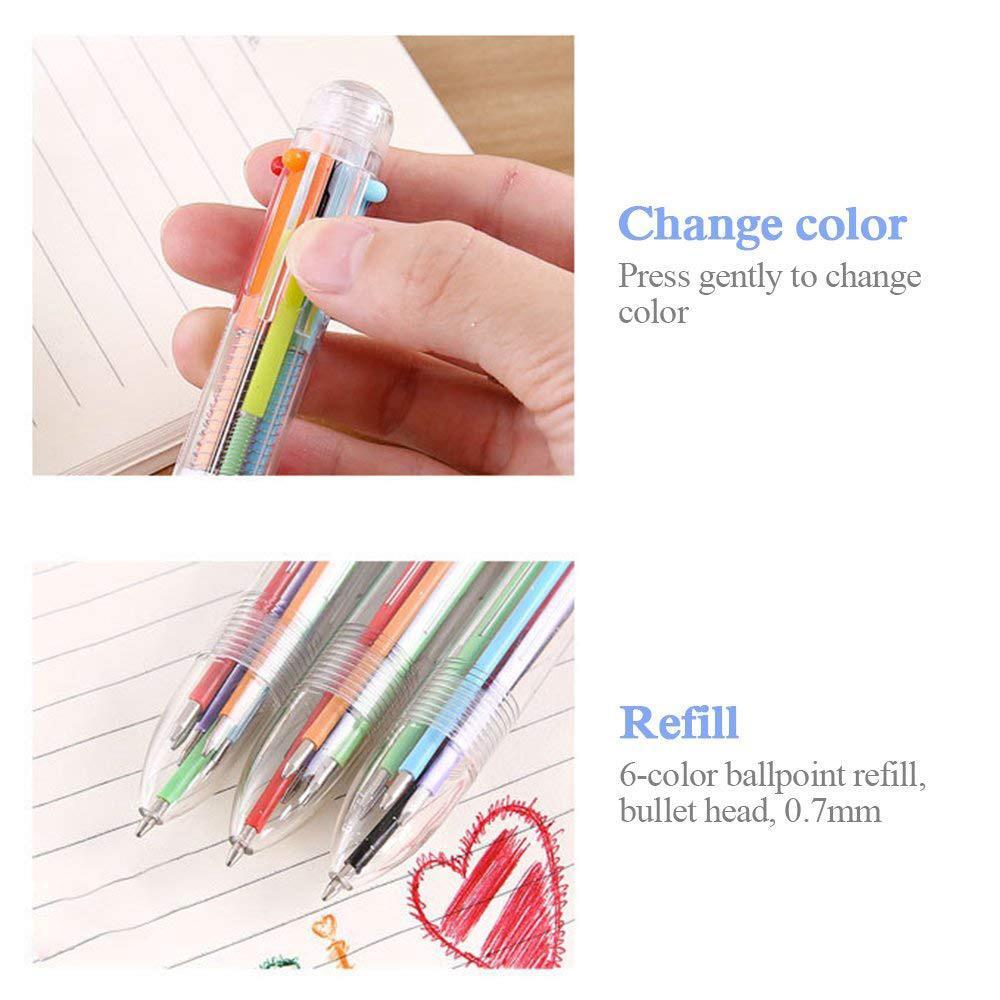 Bút bi nhiều màu thiết kế 6 trong 1 hoặc 8 trong 1 ngòi 0.5mm tiện dụng 7