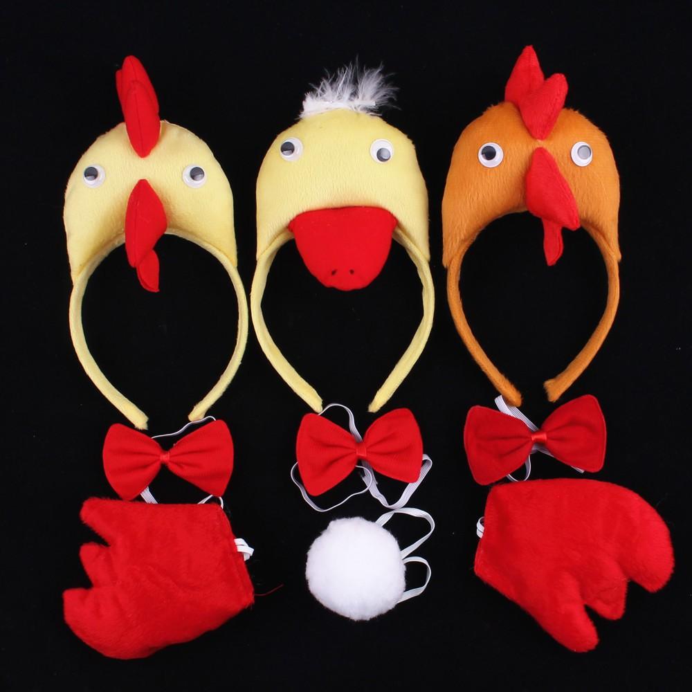 Tao Tao 28g Children's Animal Headwear Chicken Duck Headband Child Performance Headband Headwear Hair Card haybo00