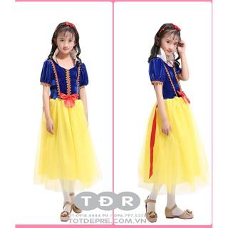 Váy đầm công chúa Bạch Tuyết chất nhung co giãn