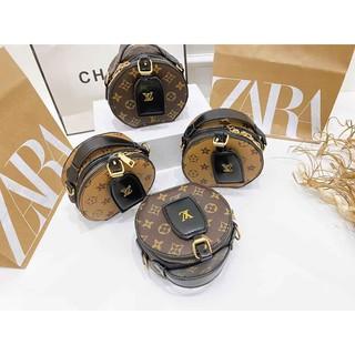 Túi tròn họa tiết túi hộp tròn mini đeo chéo cầm tay hàng đẹp TRONLVMINI