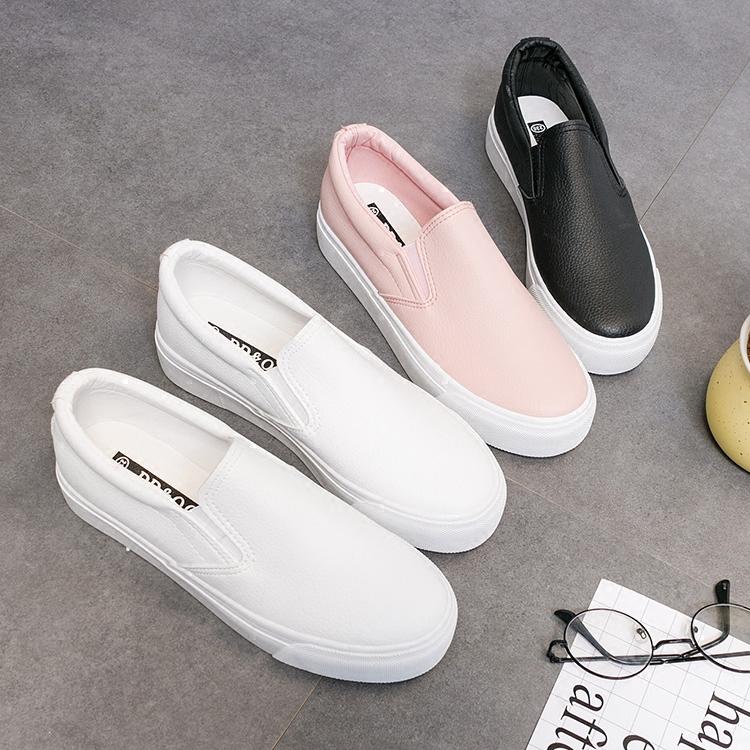 สัปดาห์ 2019 รองเท้าใหม่ขี้เกียจเวอร์ชั่นเกาหลีของรองเท้าเหยียบฤดูใบไม้ผลิ