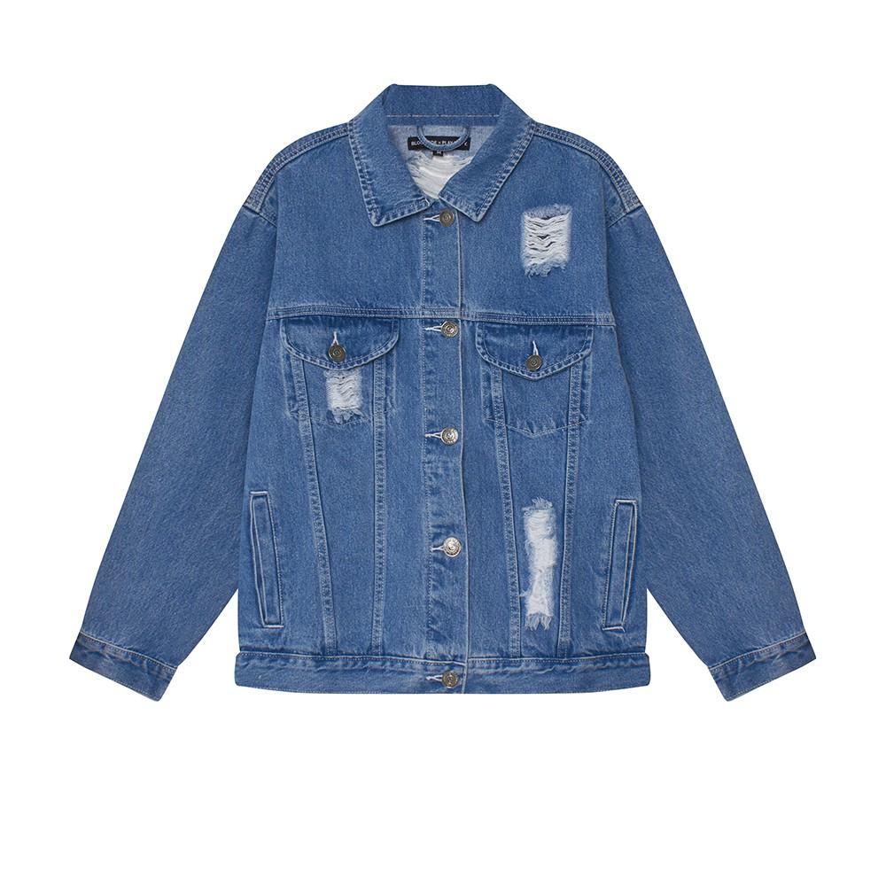 Denim Jacket - Áo khoác jeans rách BLMDE