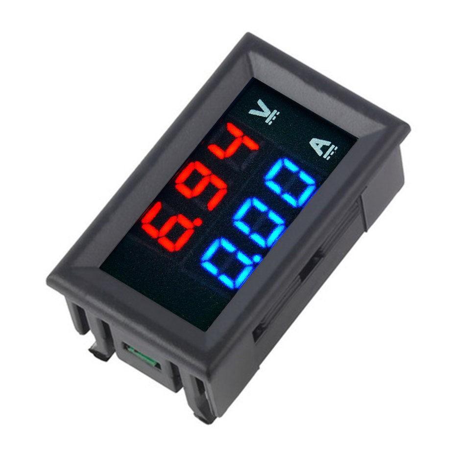 Đồng hồ Led đo dòng áp DC kỹ thuật số 100V 10A