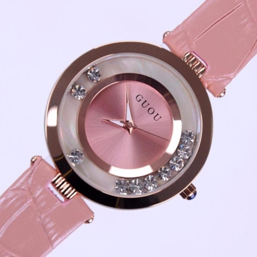 Đồng hồ nữ dây da Guou GU045 (Hồng) - Tặng vòng tay thạch anh - 3466334 , 850447531 , 322_850447531 , 650000 , Dong-ho-nu-day-da-Guou-GU045-Hong-Tang-vong-tay-thach-anh-322_850447531 , shopee.vn , Đồng hồ nữ dây da Guou GU045 (Hồng) - Tặng vòng tay thạch anh