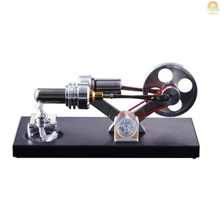 M^M COD Hot Air Stirling Engine Motor Model DIY Kit with 4pcs Led Lights Electricity Generator Physics Educational Toy Teaching Aids for Teacher Student Adult