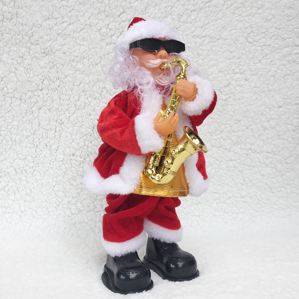 Ông già Noel đeo kính thổi kèn (có nhạc đèn)
