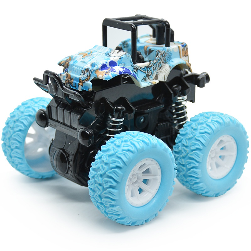 Monster Truck Toy Car Graffiti Macaron Monster Truck Toy Car Gifts For Kids Boy Toys FrictionCar Sturdy and Drop Resistant gift