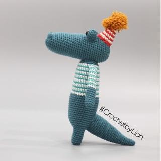 Thú len móc handmade : Cá Sấu – René Yacaré Caiman – Animal friends of Pica Pau