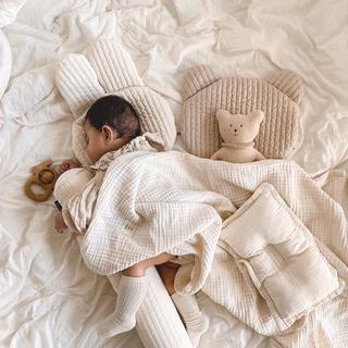 Gối Cotton Hình Thỏ / Gấu Đáng Yêu Cho Bé Sơ Sinh