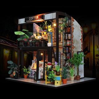 Mô hình nhà búp bê bằng gỗ tự lắp ráp. Đầy đủ nội thất – Tặng Dụng cụ và keo dán