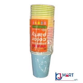Set 30 cốc giấy màu sắc dung tích 205ml thumbnail