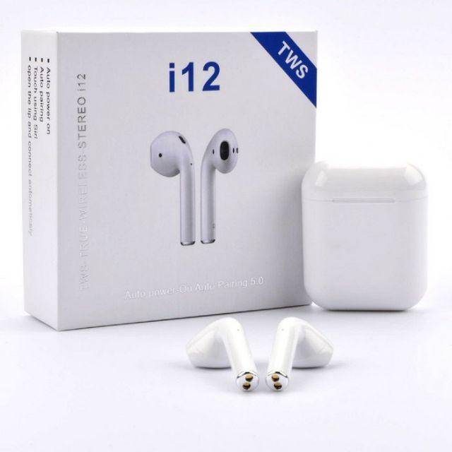 Tai nghe bluetooth  i11 i12 Âm Thanh Cực Hay - Có Mic Đàm Thoại - Bluetooth 5.0 ( nghe 2 tai có ảnh thật )