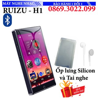 Máy nghe nhạc ipod Mp3 Mp4 Ruizu H1 8GB Màn Hình full Cảm ứng Bluetooth 5.0 Kỹ Thuật Số thumbnail