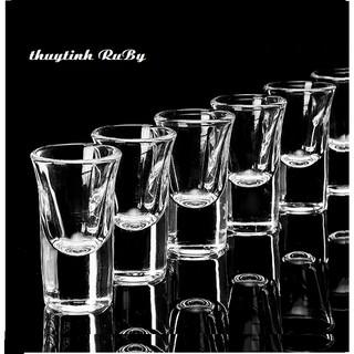 Bộ 6 Ly Rượu Shot Thủy Tinh 35ML, Ly Rượu Thủy Tinh