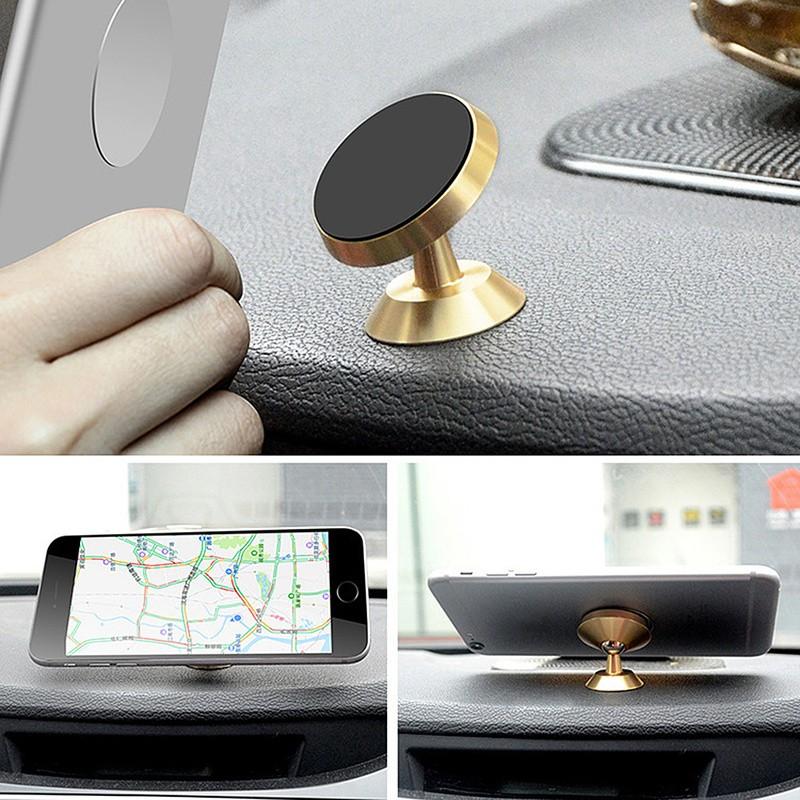 Koosuk Metal 360 Degree Rotation Car Bracket Magnet Phone Stand